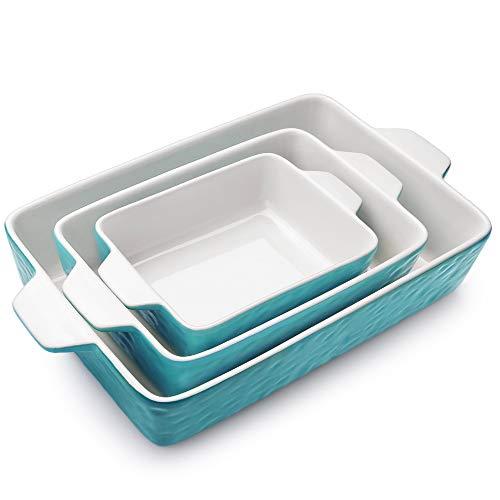 Krokori Rectangular Baking Pan Ceramic Glaze Baking Dish