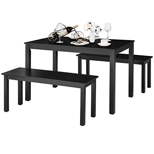 Modern Studio Collection Table with 2 Benches
