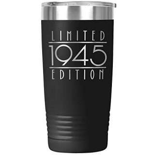 Seventy Five Fifth 1945 Tumbler Travel Mug Cup