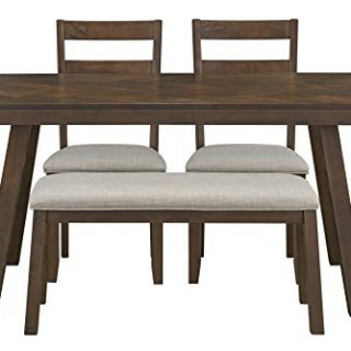 Ready To Live Dark Brown Caswell Dining Set, Height