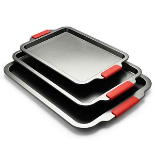 3 Piece Baking Sheets Nonstick Bakeware Set
