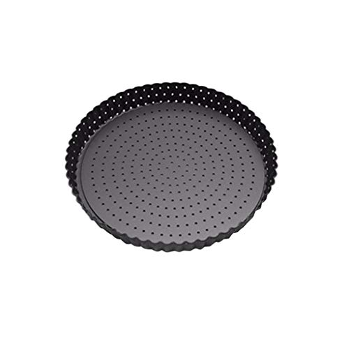 XGao Removable Pizza Pan with Holes, Pizza Crisper Cooking Pan with Non-Stick Coating, Thickened Steel Pizza Tray for Oven, Round Perforated Baking Pan for Home & Restaurant Kitchen Cooking Tool (L)