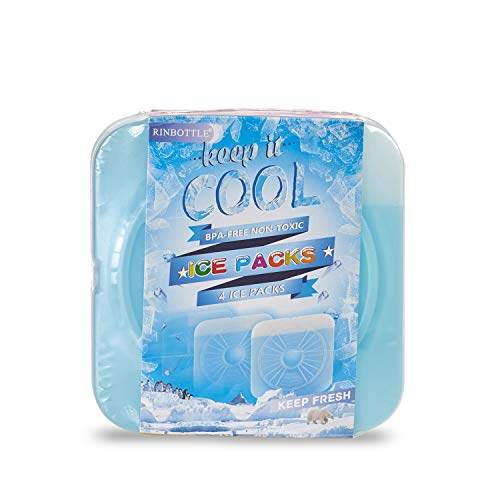 RINBOTTLE Ice Packs for Lunch Box Slim Reusable Freezer