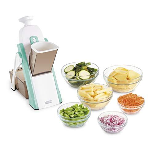 DASH Safe Slice Mandoline for Vegetables, Meal Prep & More with Thickness Adjuster, Aqua