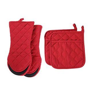 Heat Resistant Kitchen Gloves, Cotton
