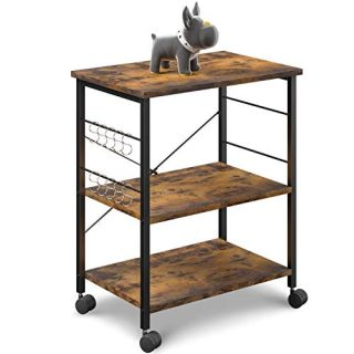 Kitchen Cart Island Utility Storage Shelf Microwave Oven Stand