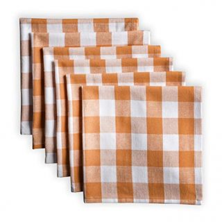 Maison d' Hermine Rosmalen - Apricot Tan 100% Cotton Set of 6 Cloth Napkins Soft and Comfortable Reusable for Dinner | Wedding | Home Use | Thanksgiving/Christmas (18 Inch by 18 Inch)