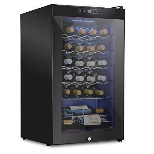 24 Bottle Compressor Wine Cooler Refrigerator w/Lock