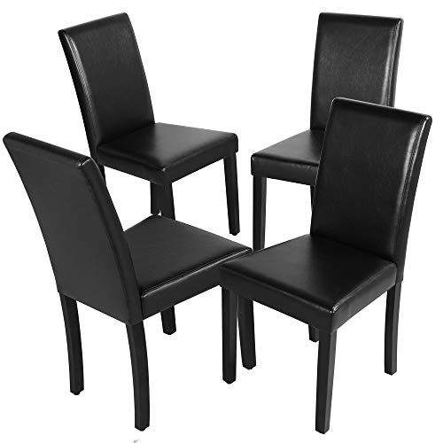 Dining Chairs Set of 4 Solid Wood Legs