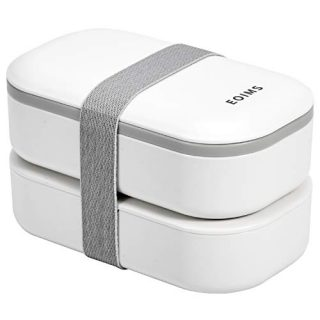 Bento Box for Adults,Japanese Bento Lunch Box,Stackable Bento Box,with Divider,Leak-Proof,Lunch Box BPA-Free, Microwave and Dishwasher Safe,Easy Wash (White Plus)