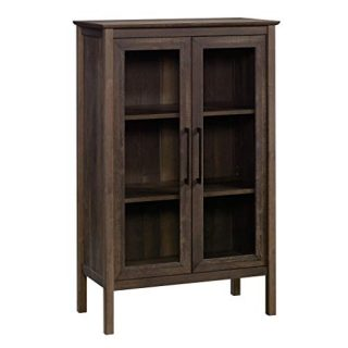 "Sauder Anda Norr Display Cabinet, L: 31.77"" x W: 16.02"" x H: 50.2"", Smoked Oak"