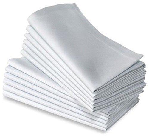 Cotton Dinner Napkins White Expertly Tailored Edges