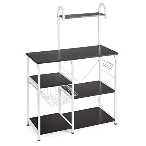 """MB-Officestar 52"""" Microwave Oven Stand Storage Kitchen Baker's Shelf Utility Microwave Rack"""