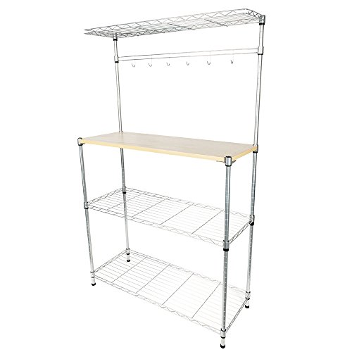 Teeker Baker's Rack for Kitchens,Microwave Stand Storage Rack,Kitchen Cart Storage Organizer Shelf Workstation