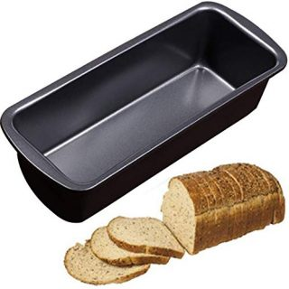 Bread Tray, Loaf Pan, Bread and Loaf Tins, Non-Stick Carbon Steel Loaf Pan Bread Mould Rectangle Baking Pan Cake Maker Mold Oven Tray (L)