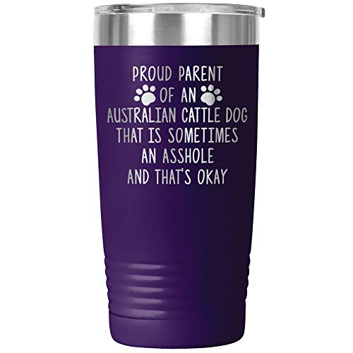 Funny Australian Cattle Dog Tumbler Travel Mug