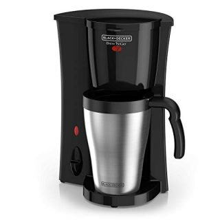 BLACK+DECKER Coffeemaker, 1, Black/Stainless Steel