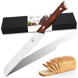 Bread Knife - imarku 10-inch Ultra Sharp Serrated Knife, German High Carbon Stainless Steel Bread Slicer, Ergonomic Handle, Durable Kitchen Knife Bread Cutter for All Types of Bread