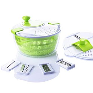 7 in 1 Multifunction Kitchen Gadget set 4L Salad Spinner Vegetable Dryer Grater Slicer