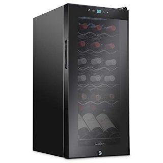 Control Fridge Glass Door Black Bottle Compressor Wine Cooler
