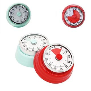 60-Minute Mechanical Timer, Magnetic Visual Countdown Clock for Cooking Classroom Meeting Teacher Chef Kids Adults Classroom Office(2Pcs Green and Red)