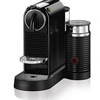 Nespresso CitiZ Original Espresso Machine with Aeroccino Milk Frother Bundle by De'Longhi, Black