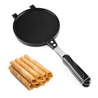 Waffle Cone Baking Pan Egg Roll Crispy Omelet Pan Ice Cream Cone Machine Egg Roll Mold (Diameter 8.7 Inches)