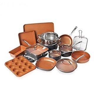 Bakeware Set with Nonstick Durable Ceramic Copper Coating