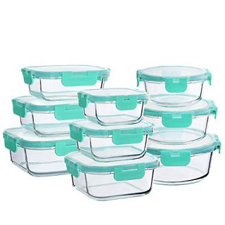 Bayco Glass Food Storage Containers with Lids