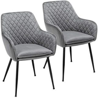 Dining Chairs Armchairs Velvet Upholstered Side