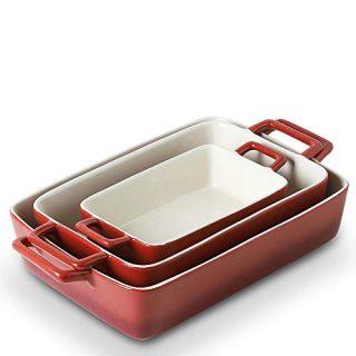 Rectangular Baking Pans Set for Cooking