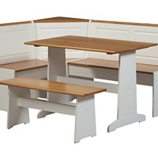 Ardmore Nook Set with Pine Accents, White