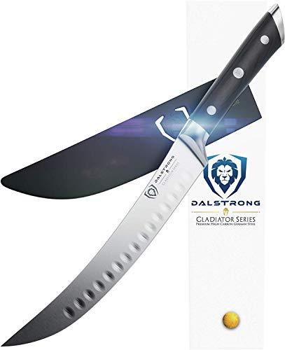 "DALSTRONG Butcher's Breaking Cimitar Knife - Gladiator Series 8"" Slicer - German HC Steel - Sheath Guard Included"
