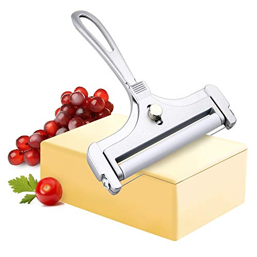 Adjustable Thickness Cheese Slicer Wired Cheese Cutter for Soft