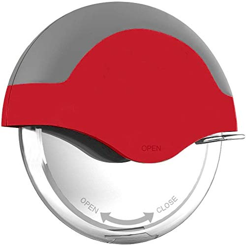 Pizza Wheel Cutter   Handheld Stainless Steel Pizza Cutter   Super Sharp & Easy to Clean   Smart Kitchen Gadget