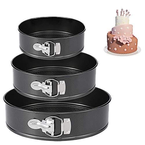 """Springform Pan (4""""/7""""/9"""") Set,Non-stick Leakproof Round Cake Pan Bakeware Baking Pans Cheesecake Pan 3 Pack"""