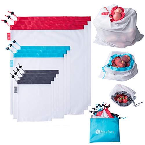 StarPack Reusable Produce Bags - Zero Waste Mesh Bag