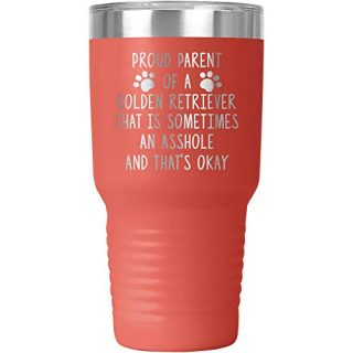 Retriever Tumbler Travel Mug Cup Mom Dad Dog Lover