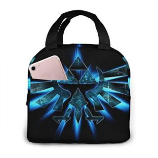 The Legend Of Zelda Luxury Snacks Organizer For Women Camping Work Lunch Holder Thermal Splash Proof Reusable Fashion Lunch Box Wide-Open Lunch Organizer Box With Zipper