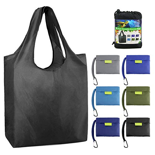 Reusable Grocery Bags Foldable Shopping Bag Large