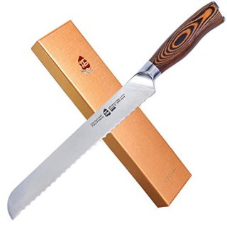 Kitchen Knife With Erqonomic Pakkawood Handle