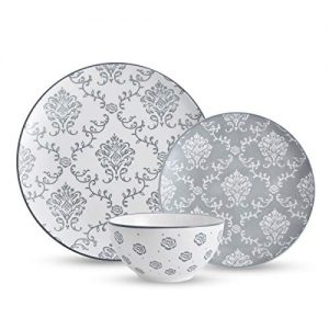 Original Heart Dinnerware Sets Dish Set Grey Ceramic Plate Set Stoneware Dinnerware Set Bowl and Plate Set 12pcs for kitchen