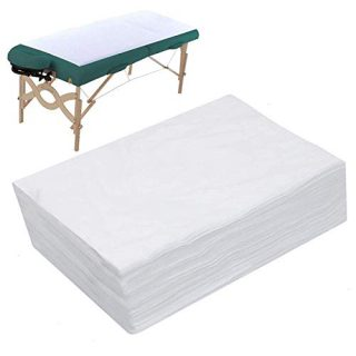 "AQUEENLY 20PCS Spa Bed Sheets Disposable Massage Table Sheet Waterproof Bed Cover Non-woven Fabric, 31"" x 67"""