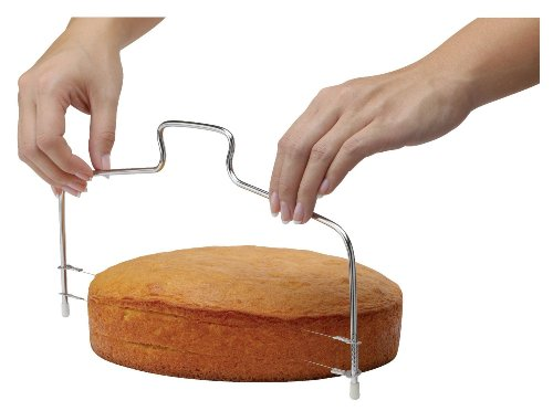 Mrs. Anderson's Baking Adjustable 2-Wire Layer Cake Cutter and Leveler, Stainless Steel