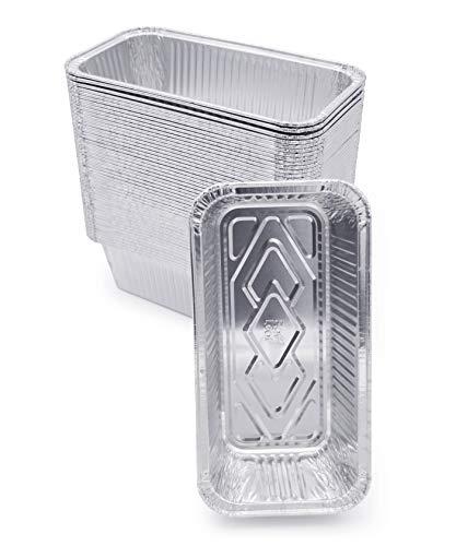 "(60 Pack) Premium 2-LB Bread Loaf Baking Pans - 8.5"" x 4.5"" x 2.5"" l Heavy Duty l Disposable Aluminum Foil Tins for Cakes Meatloaf Lasagna"