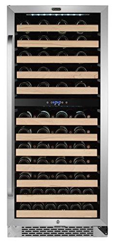 Dual Zone Compressor Large Capacity Wine Refrigerator Rack