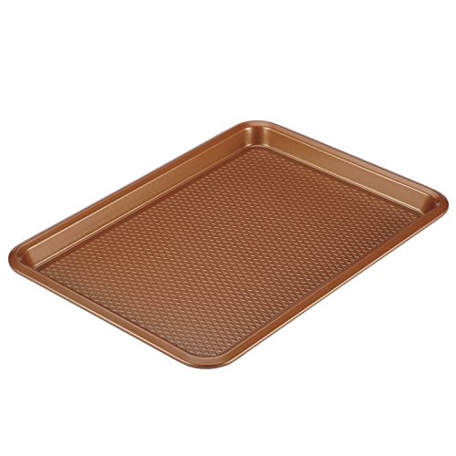 Ayesha Curry Nonstick Bakeware, Nonstick Cookie Sheet / Baking Sheet - 10 Inch x 15 Inch, Copper Brown