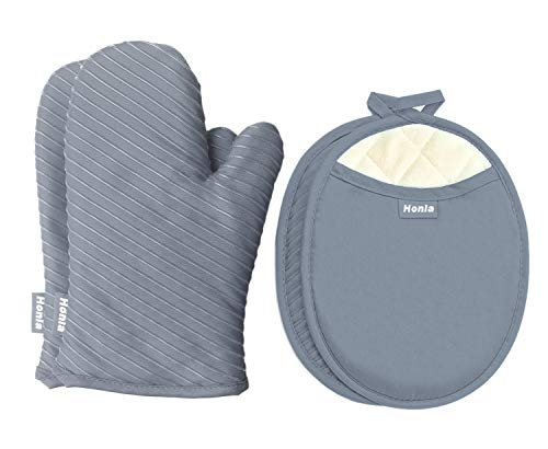 Pot Holders and Oven Mitts Gloves with Silicone Printed