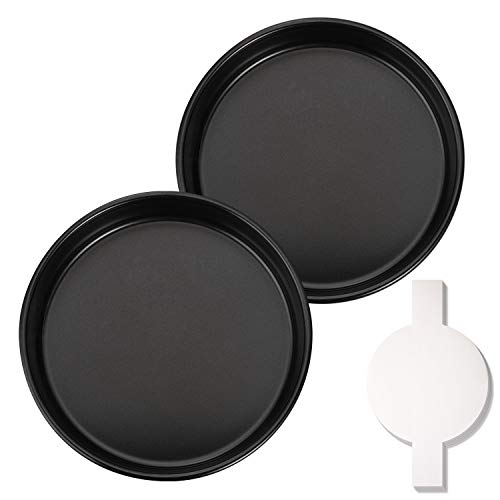Hiware 8-Inch Round Cake Pan Set with 60 Pieces Parchment Paper Rounds, Nonstick Baking Cake Pans, Dishwasher Safe - Set of 2