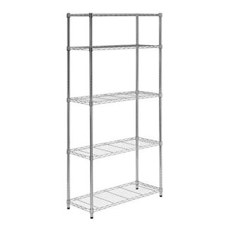 5-Tier Chrome Heavy-Duty Adjustable Shelving Unit with 200-lb Per Shelf Weight Capacity